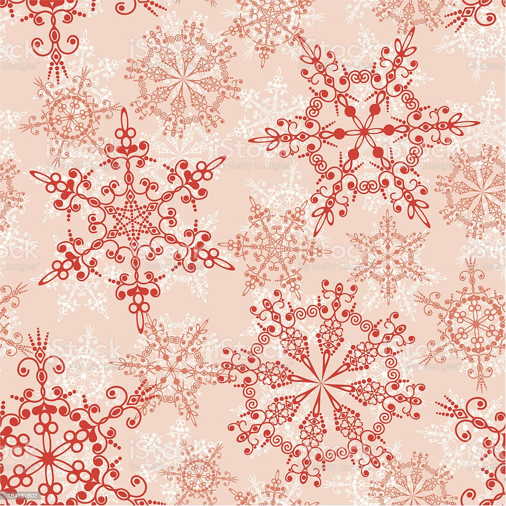 Seamless snowflakes pattern royalty-free stock vector art