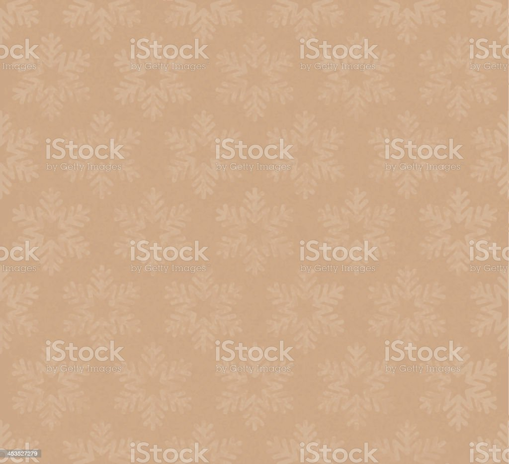 Seamless snowflakes vector art illustration