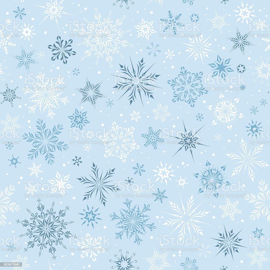 Seamless Snowflakes vector art illustration
