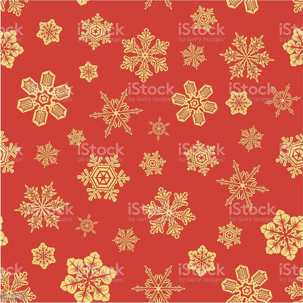 Seamless snwoflakes background. royalty-free stock vector art