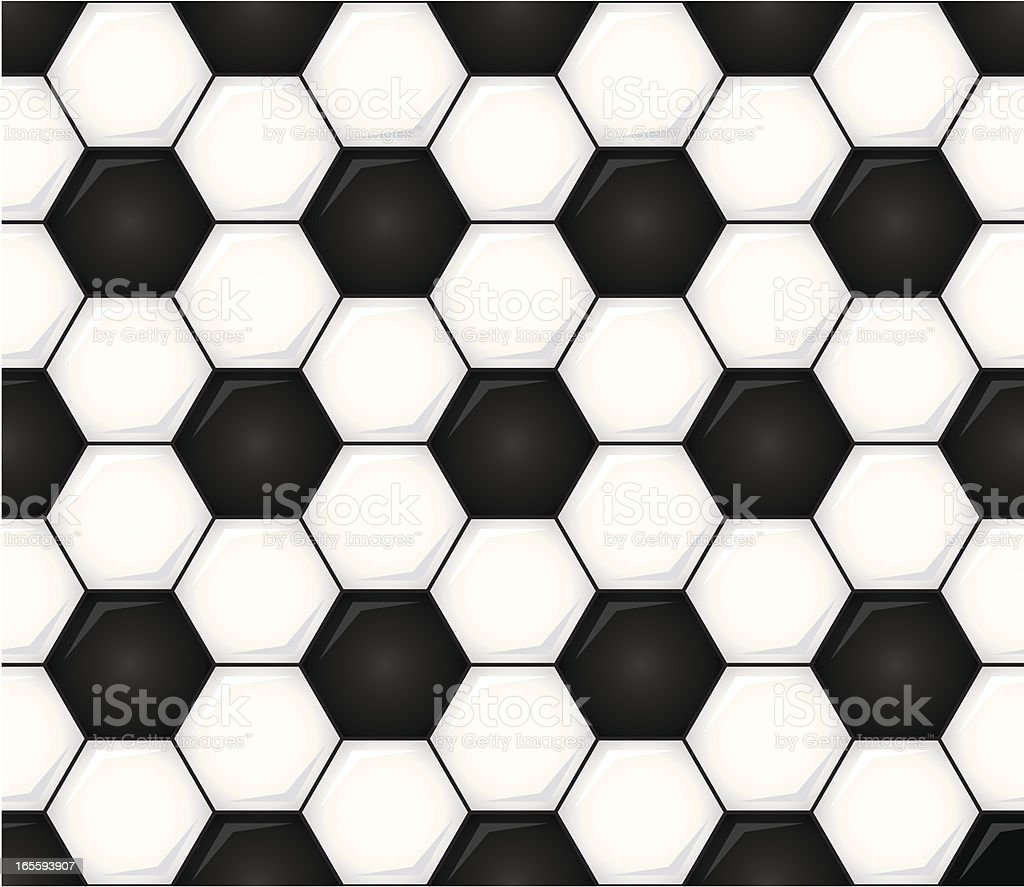 Seamless Soccer Ball Vector Illustration vector art illustration