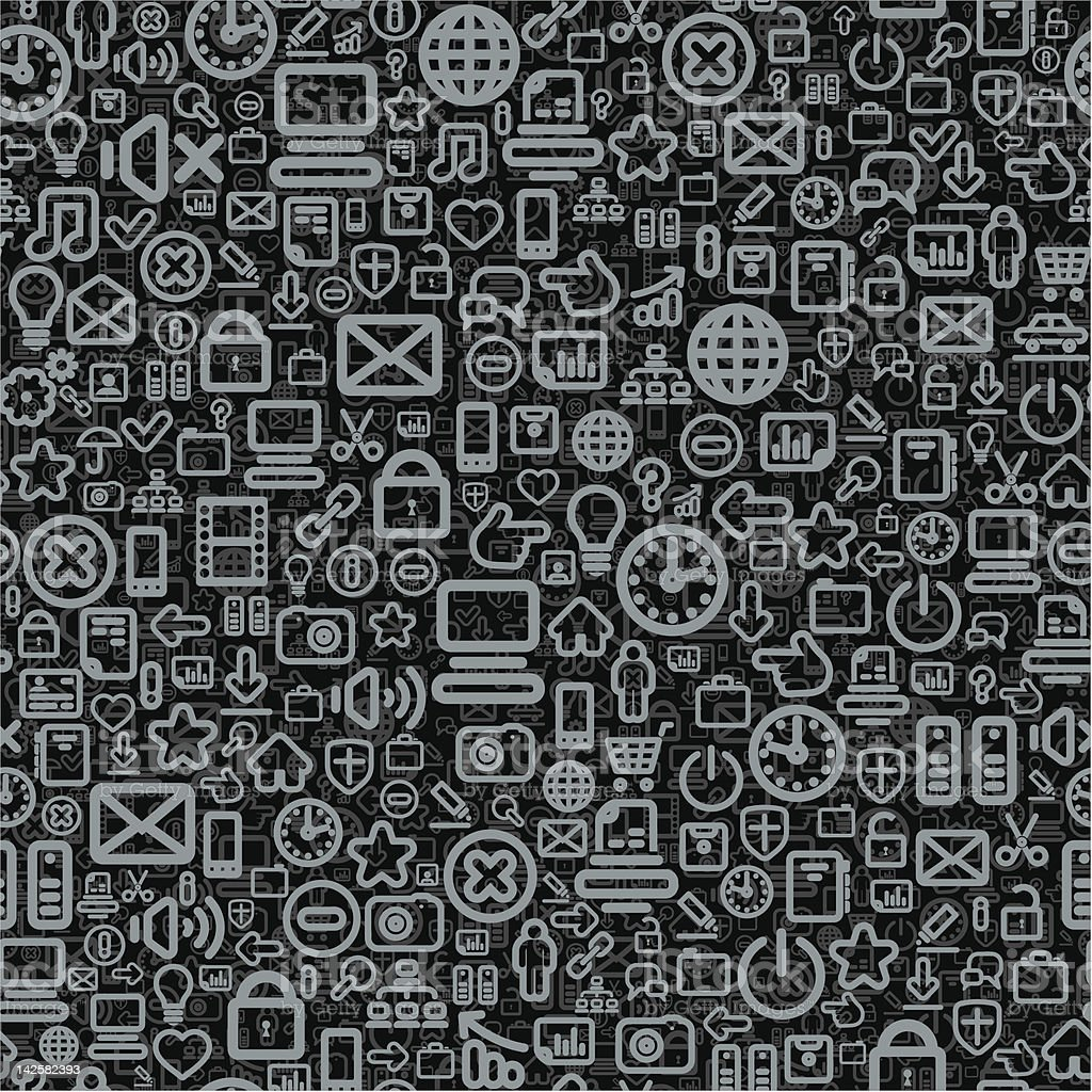 Seamless Social Media Pattern royalty-free stock vector art
