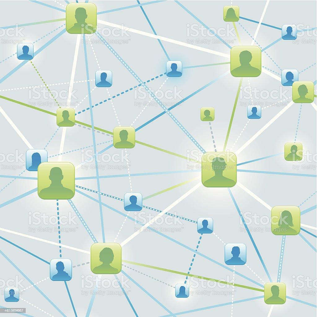 Seamless social network background vector art illustration