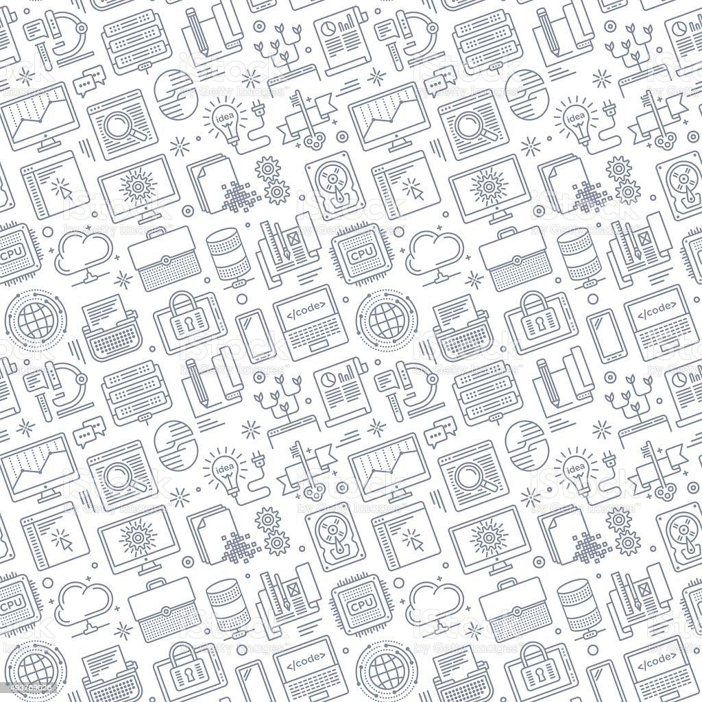 Seamless Software Pattern vector art illustration