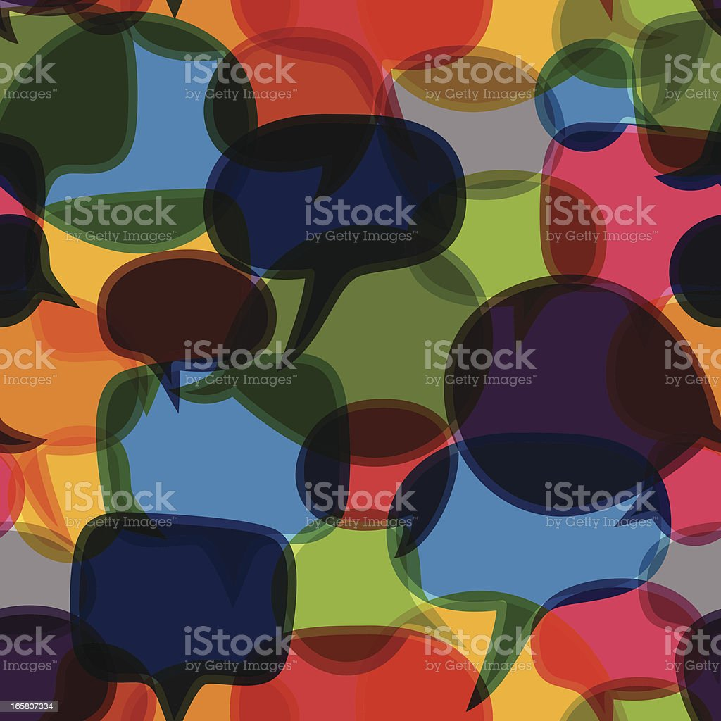Seamless Speech Bubbles royalty-free stock vector art