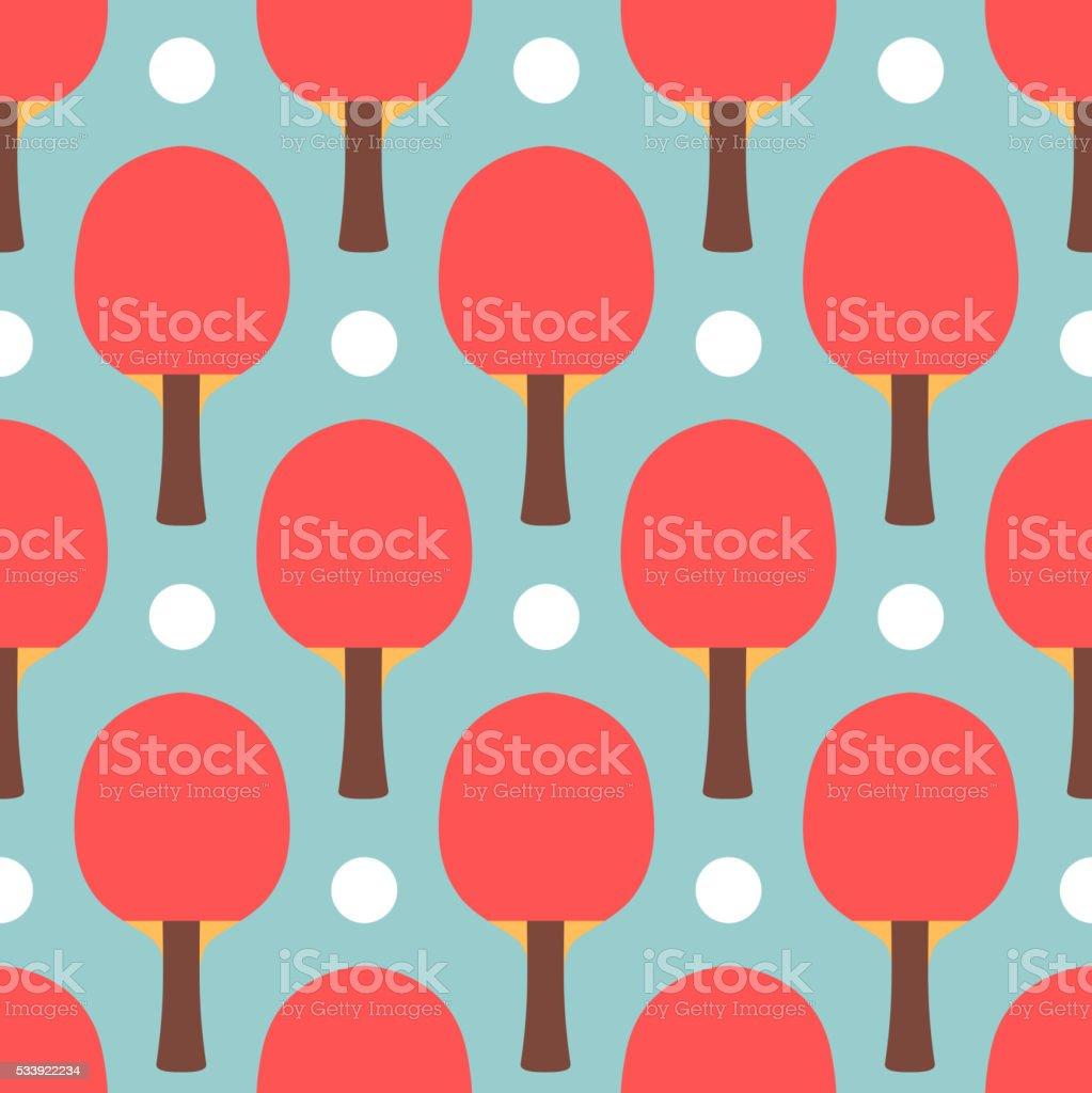 Seamless sport table tennis ping pong pattern vector art illustration