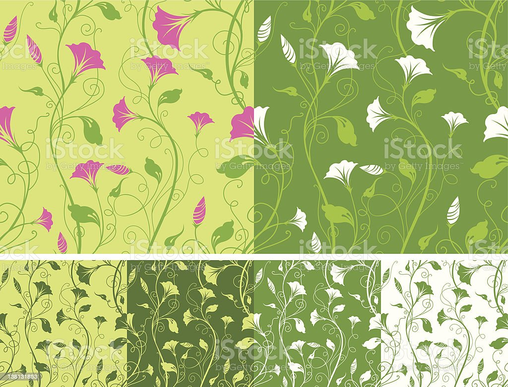 Seamless spring pattern royalty-free stock vector art