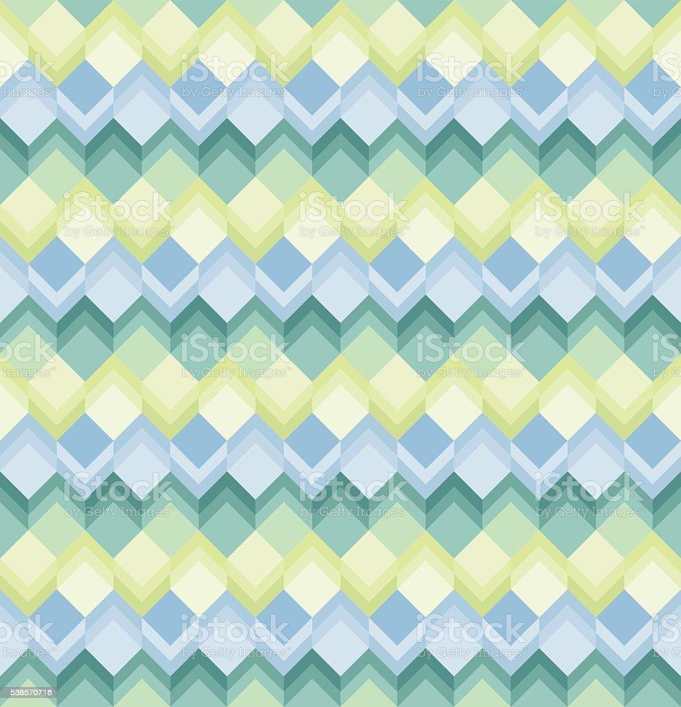 Seamless Square pattern vector art illustration