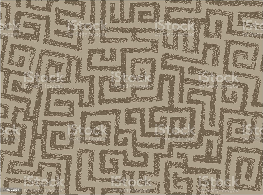 Seamless Squarish Spirals vector art illustration