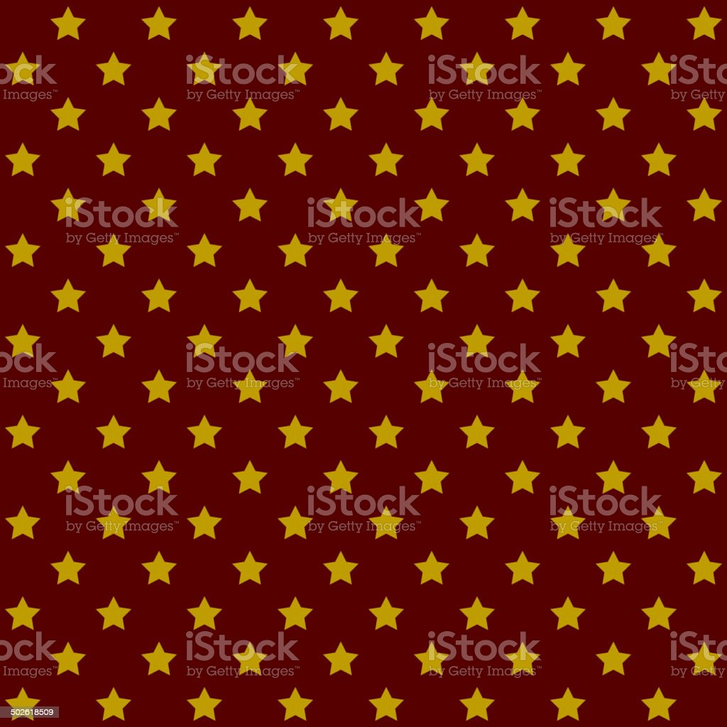 Seamless Stars Pattern in Retro Red. Vector royalty-free stock vector art