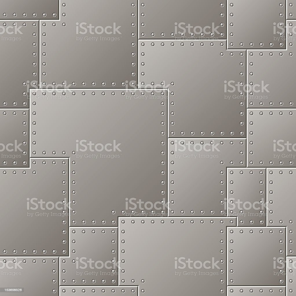 Seamless Steel Plate Pattern vector art illustration