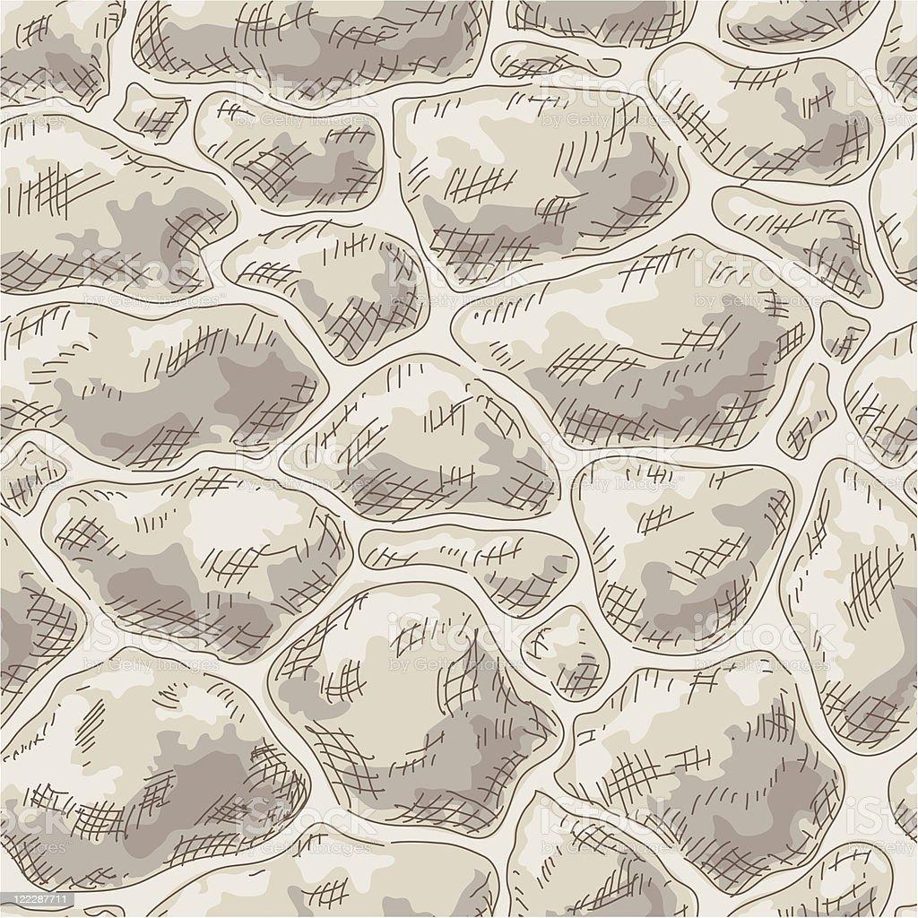 Seamless stone wall. royalty-free stock vector art