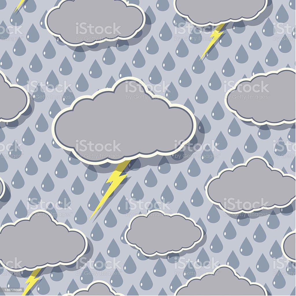 Seamless Storm Pattern royalty-free stock vector art