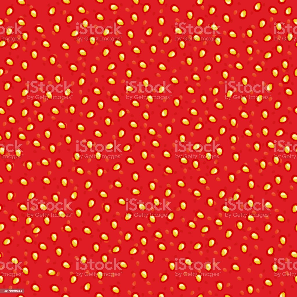 Seamless strawberry jam pattern. vector art illustration