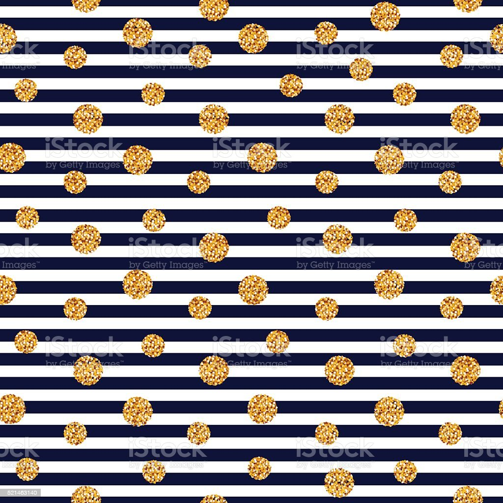 Seamless striped pattern with glitter dots. vector art illustration