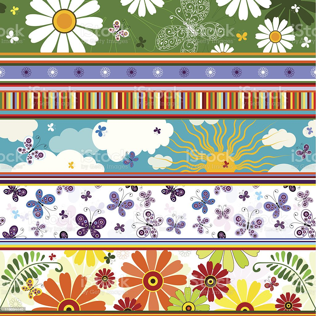 Seamless striped summer pattern royalty-free stock vector art
