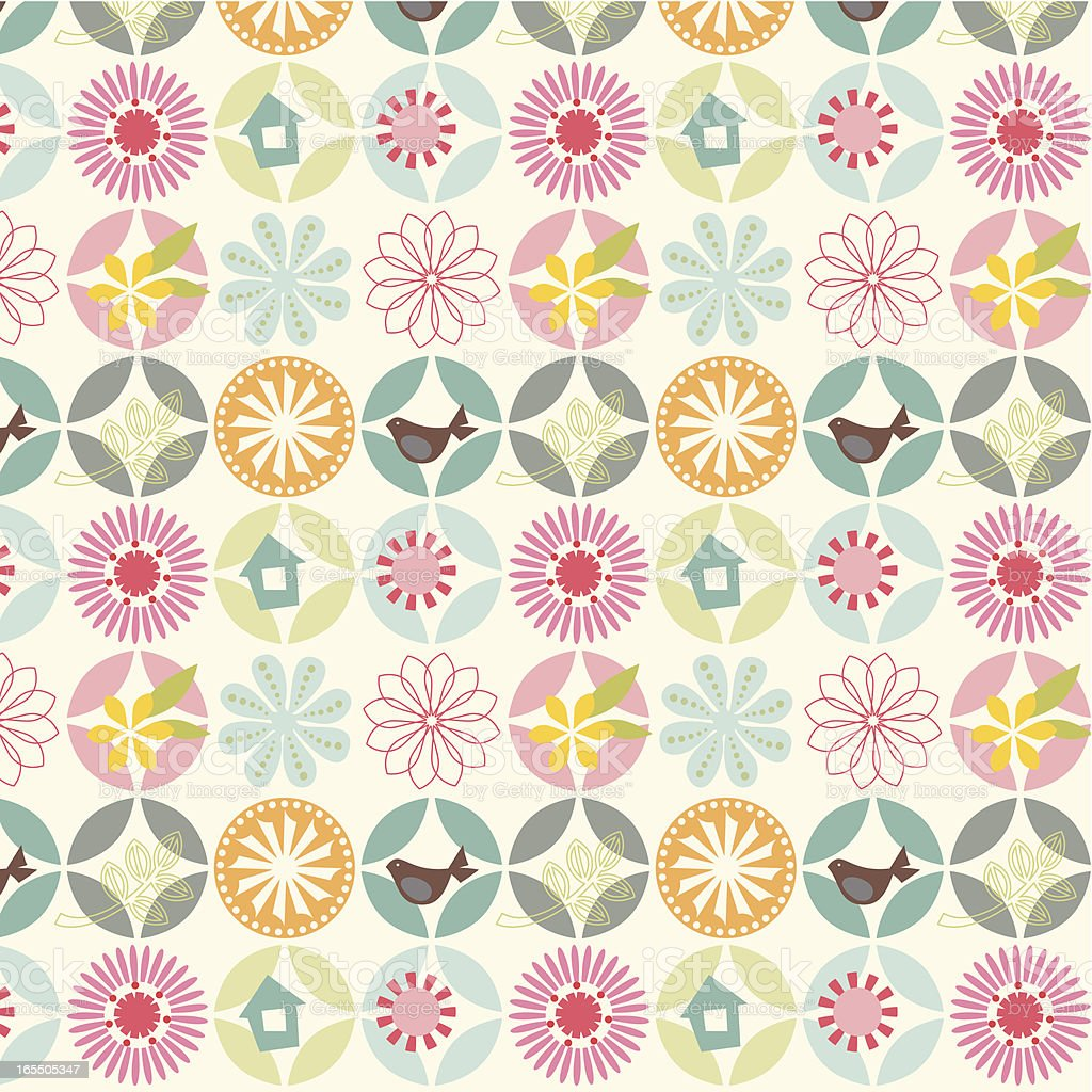 Seamless stylish flower pattern royalty-free stock vector art