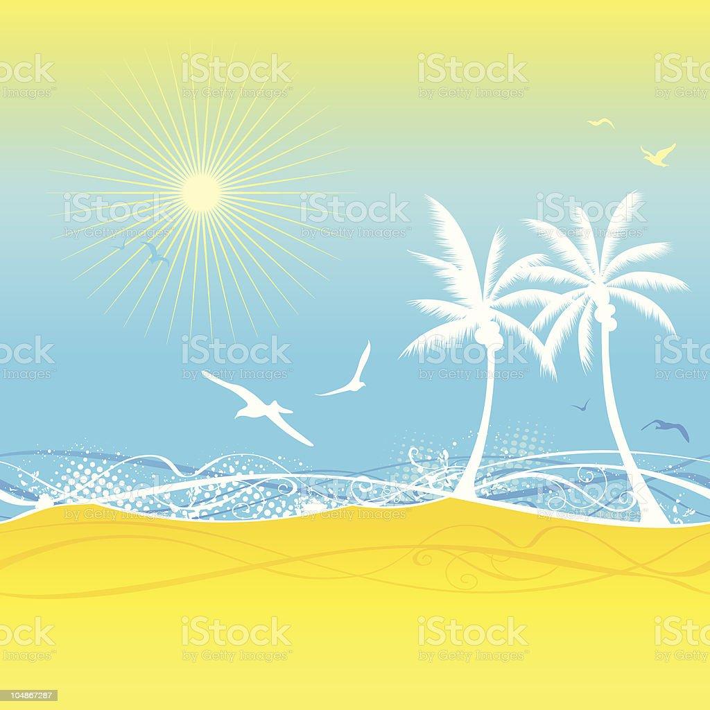 Seamless summer texture royalty-free stock vector art