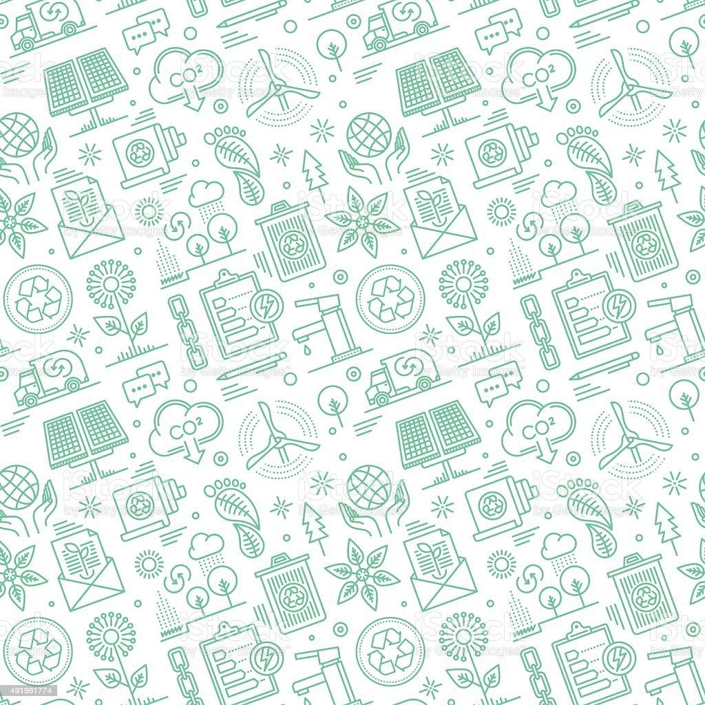 Seamless Sustainability Pattern vector art illustration