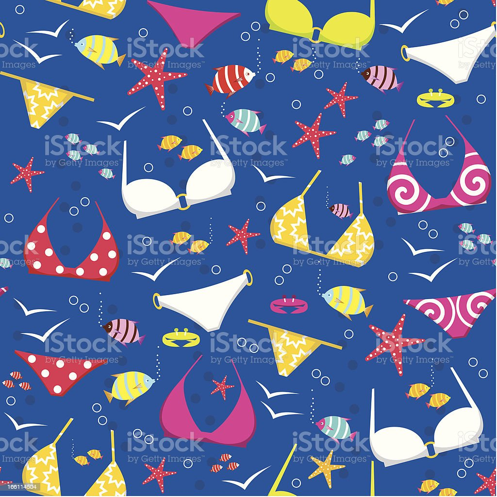 Seamless swimming suits pattern royalty-free stock vector art