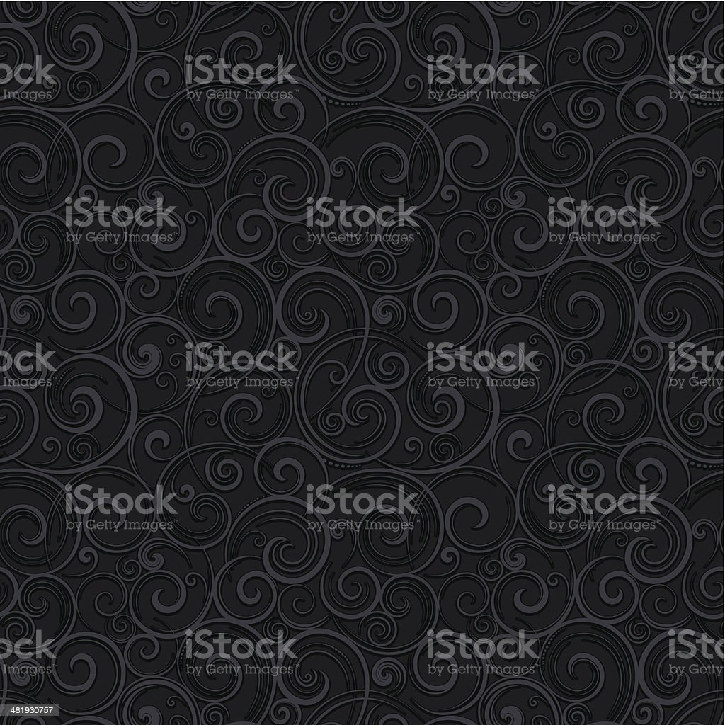 Seamless swirling wallpaper background royalty-free stock vector art