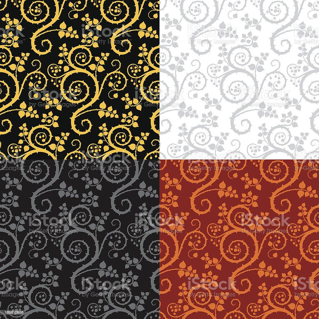 Seamless Swirly Background vector art illustration