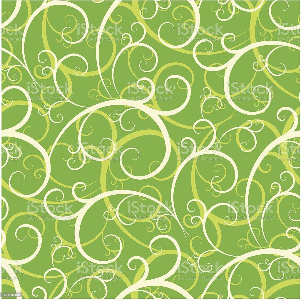 Seamless Swirly Wallpaper Pattern royalty-free stock vector art