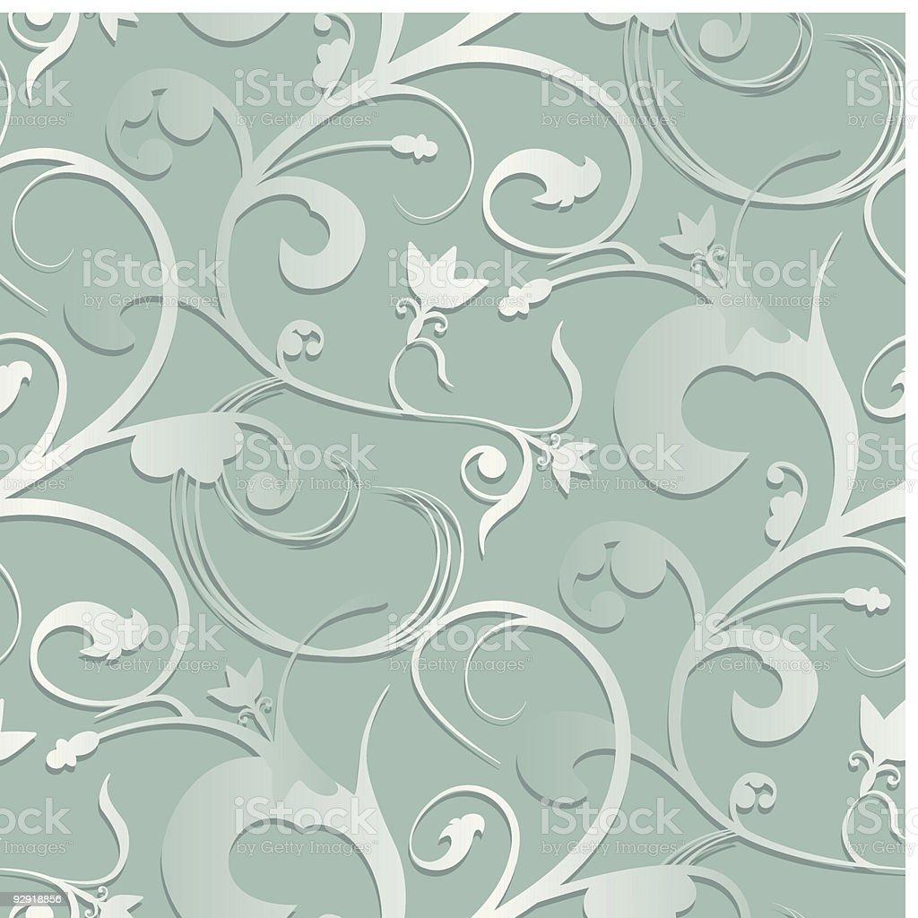 Seamless Swirly Wallpaper royalty-free stock vector art