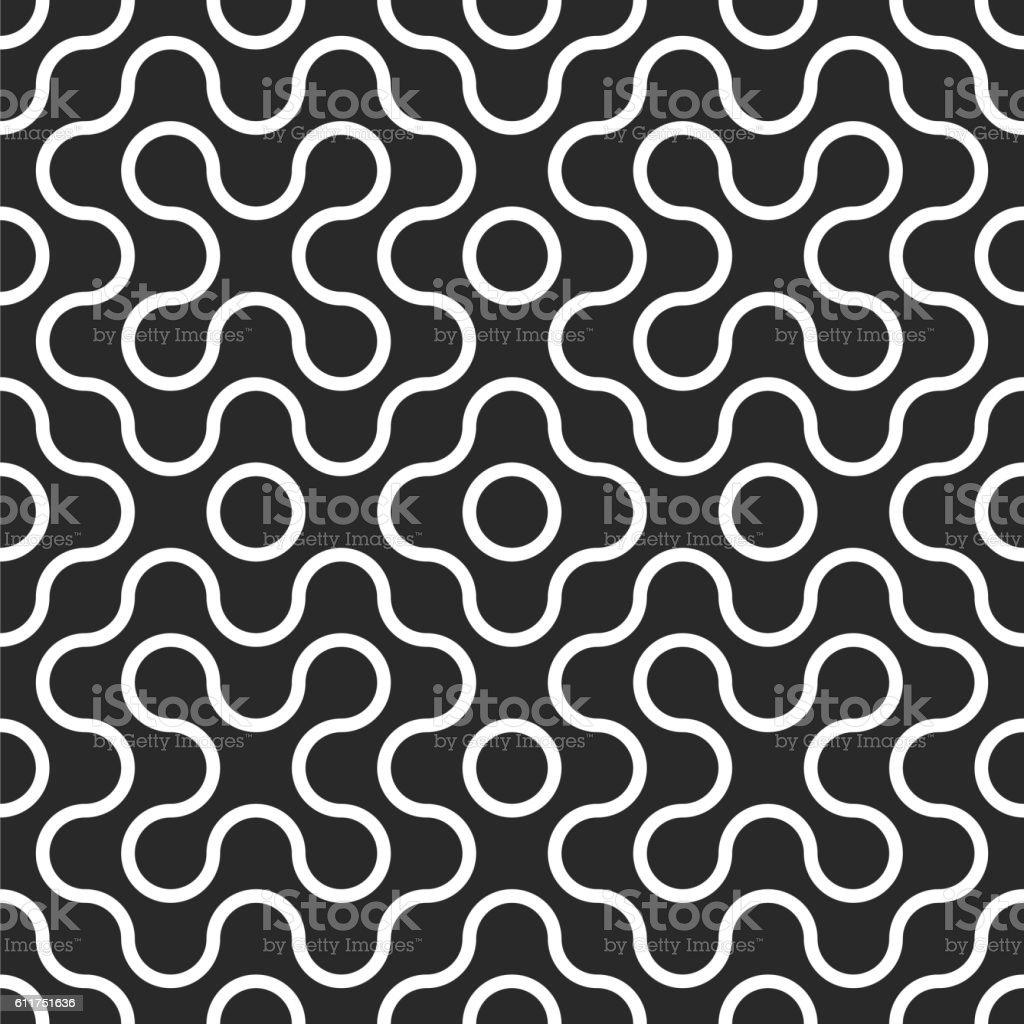 Seamless tangled maze pattern background vector art illustration