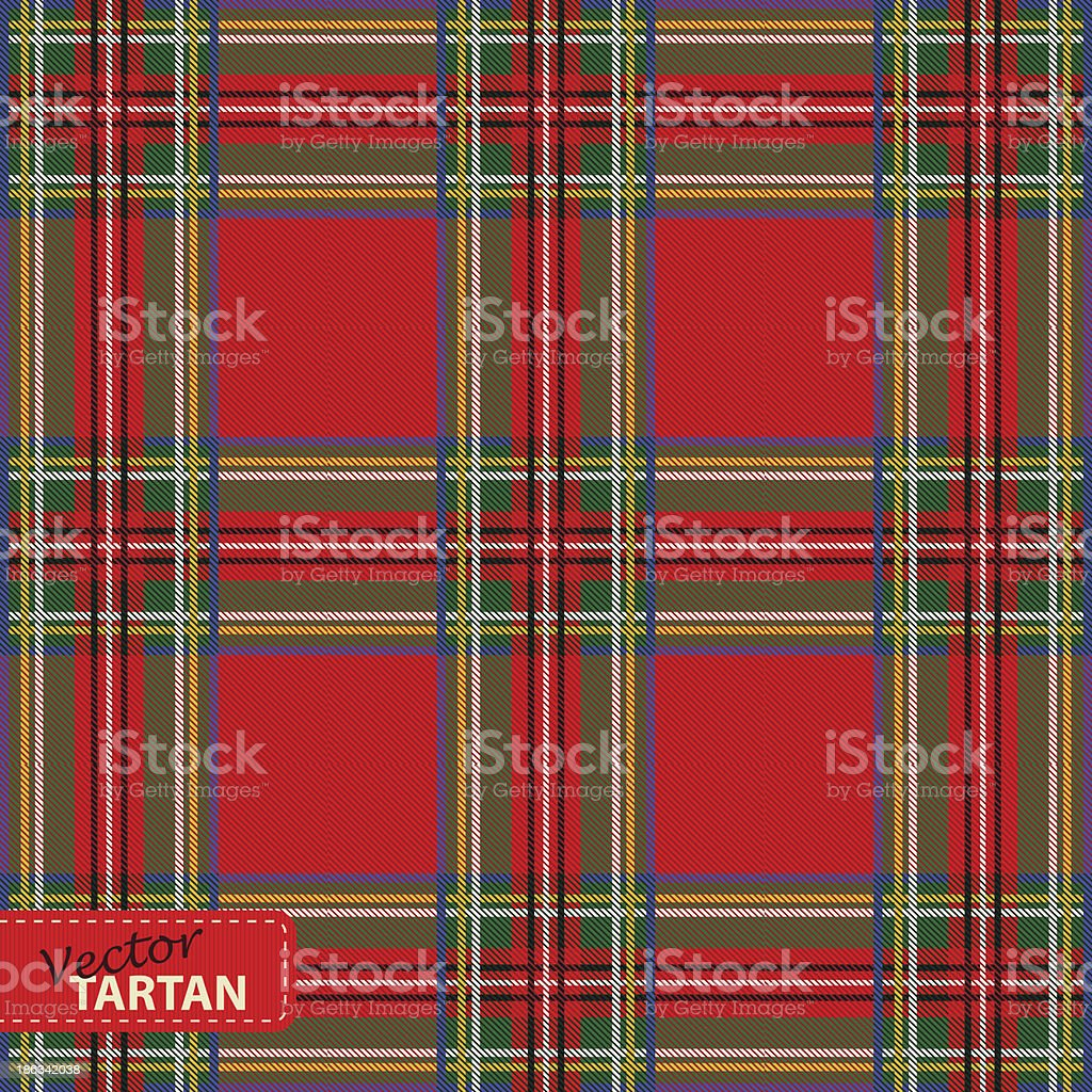 Seamless tartan pattern vector art illustration