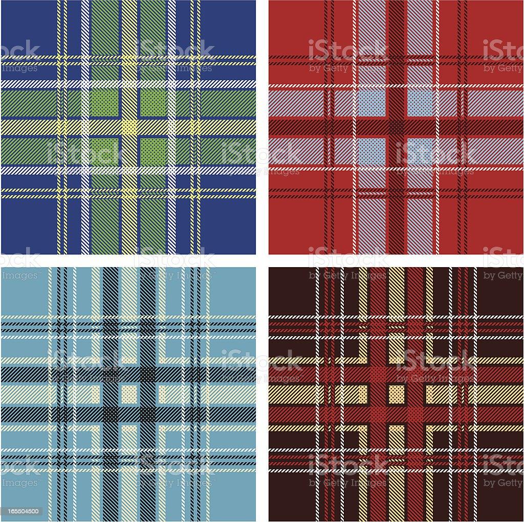 seamless tartan royalty-free stock vector art