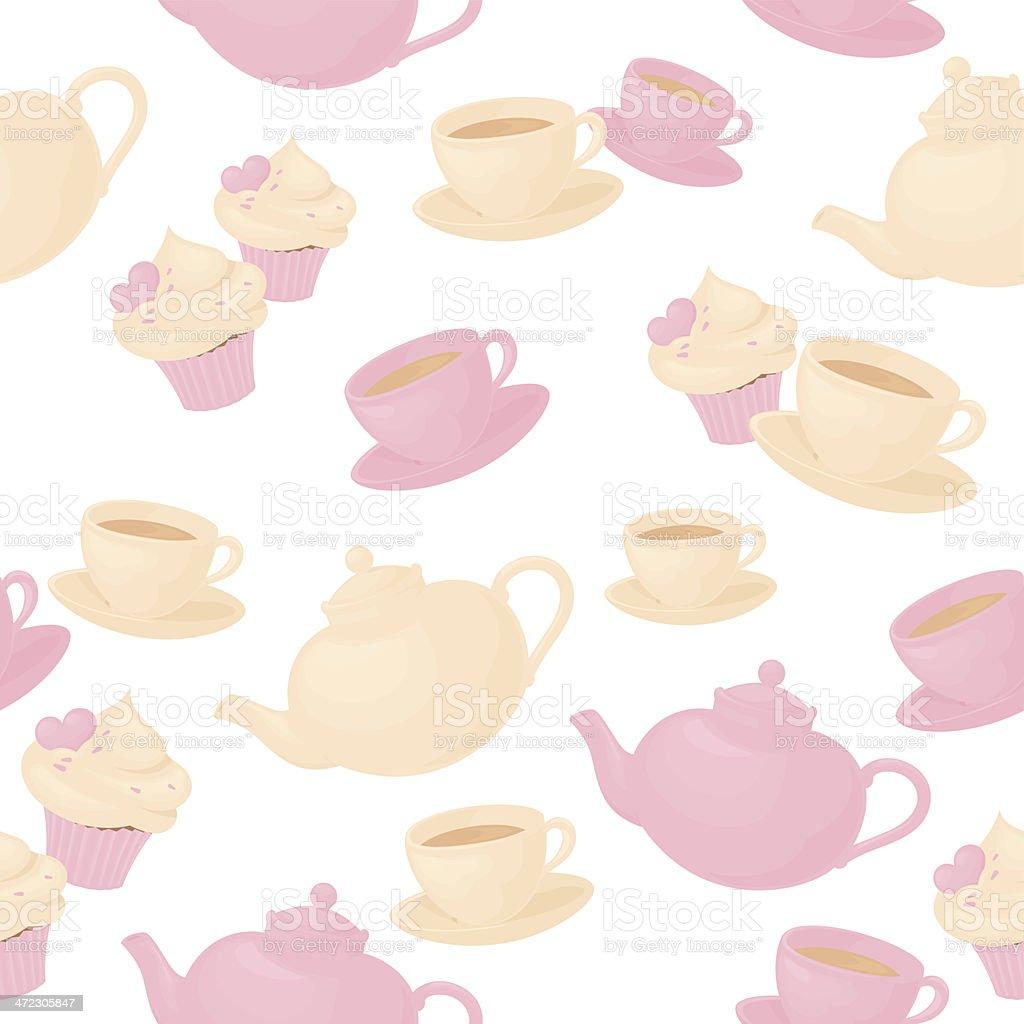 Seamless Teatime royalty-free stock vector art