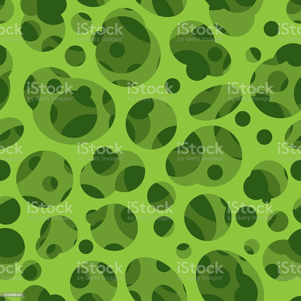 Seamless Termite's Holes In Green vector art illustration