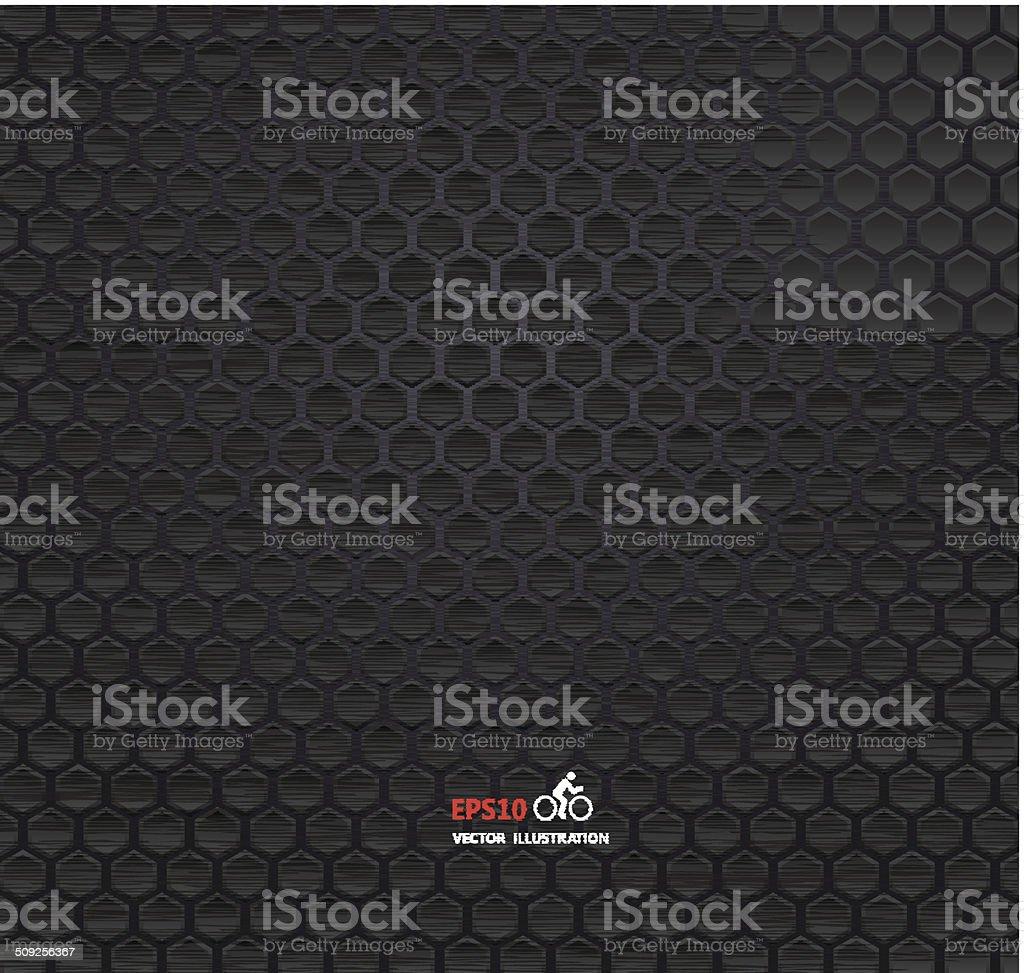 Seamless texture black metal vector art illustration