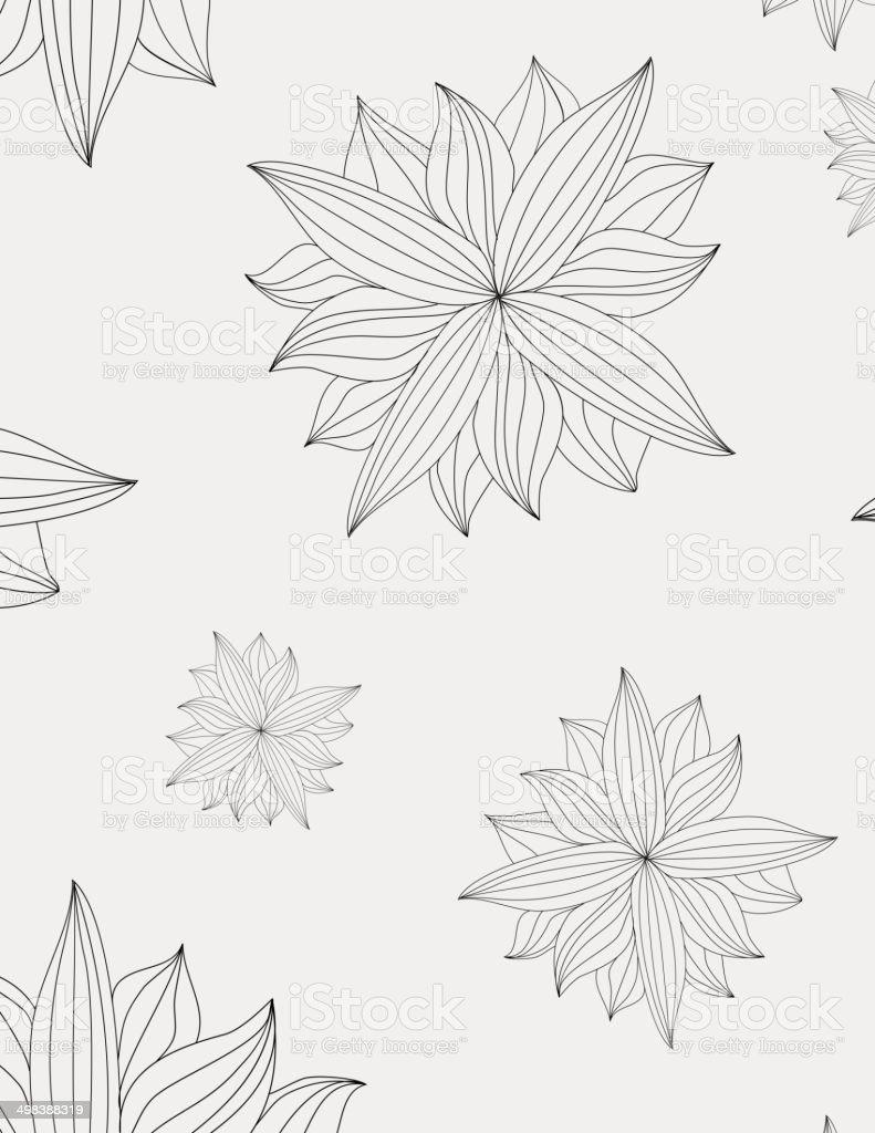 Seamless texture of a flower. EPS10 vector art illustration