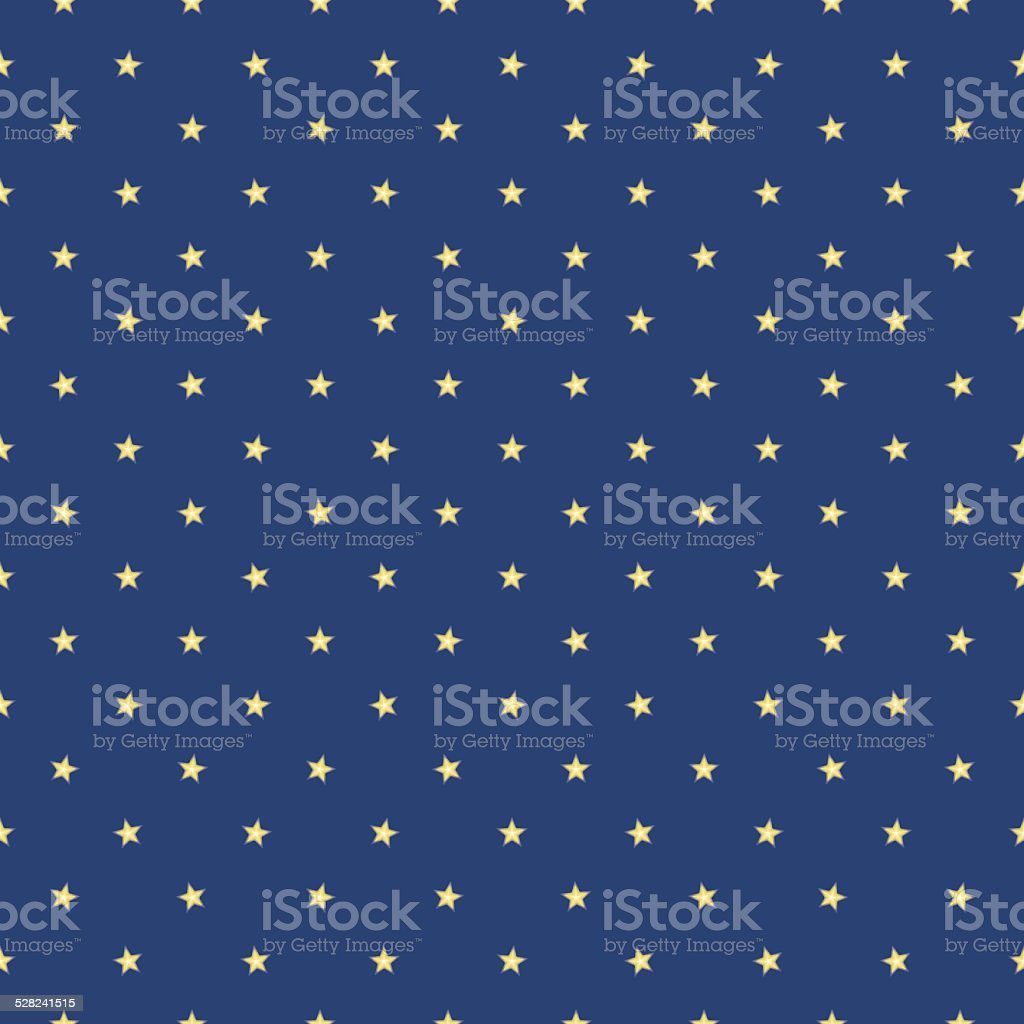 Seamless texture of blurred yellow spotted stars vector art illustration