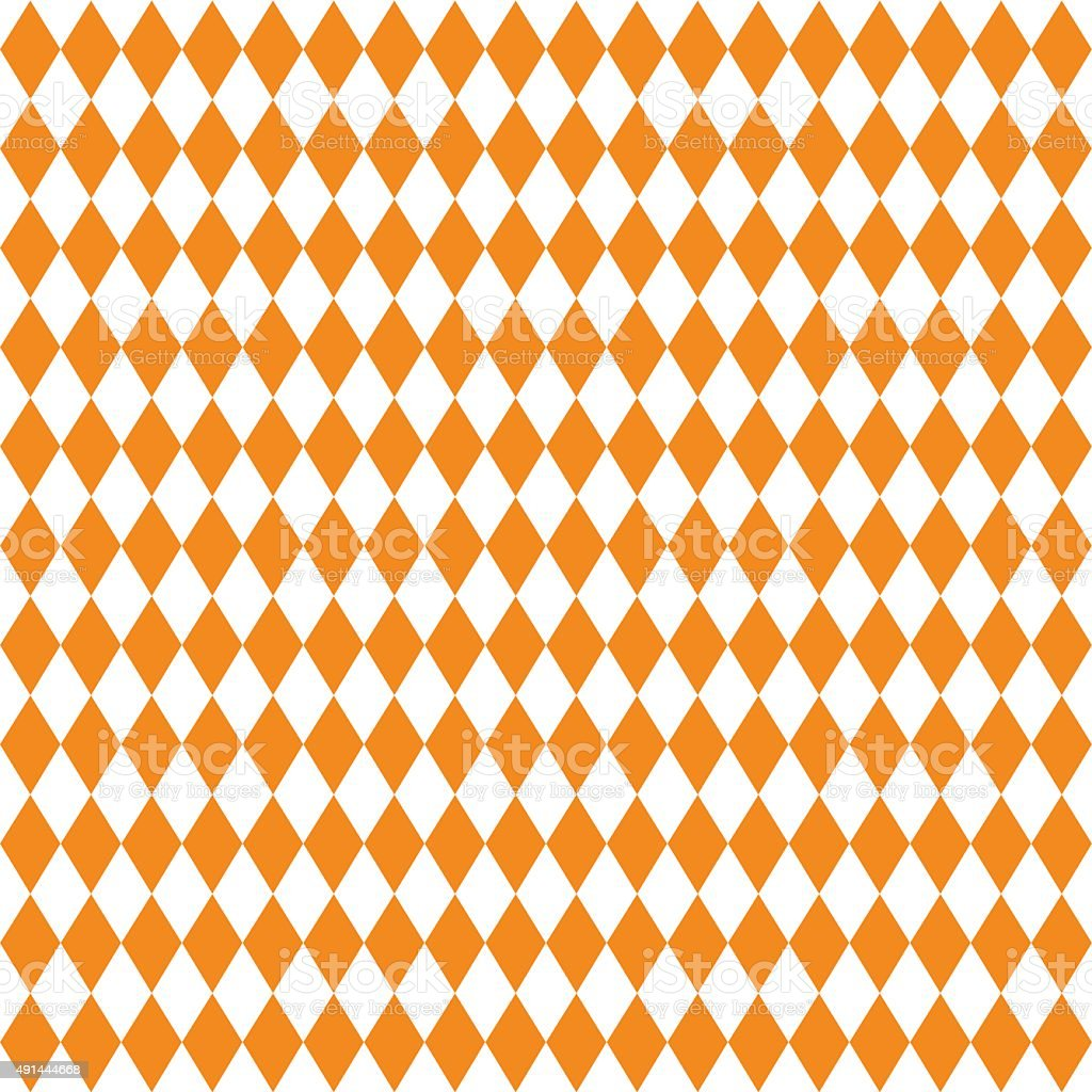 Seamless texture of rhombuses. White and orange colors. vector art illustration