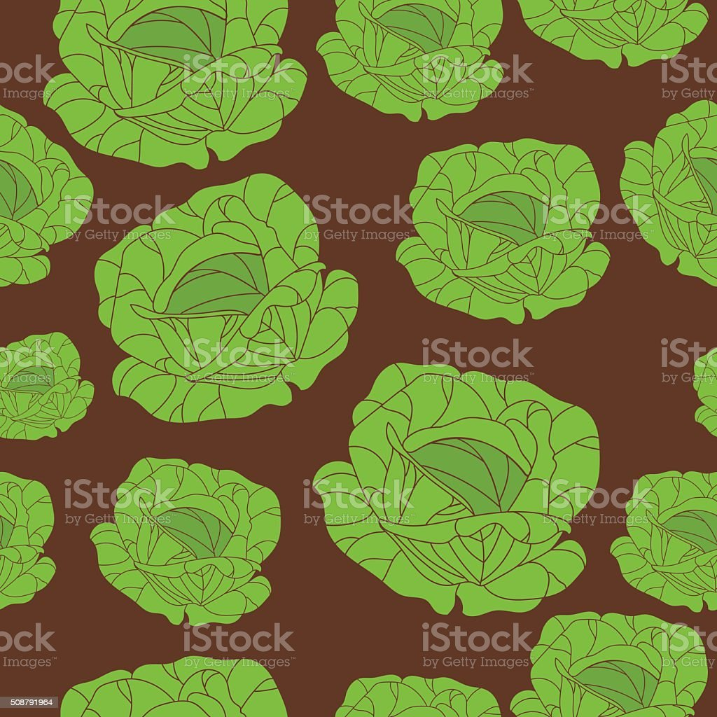 Seamless texture of the cabbage. Vegetarianism, healthy lifestyle royalty-free stock vector art
