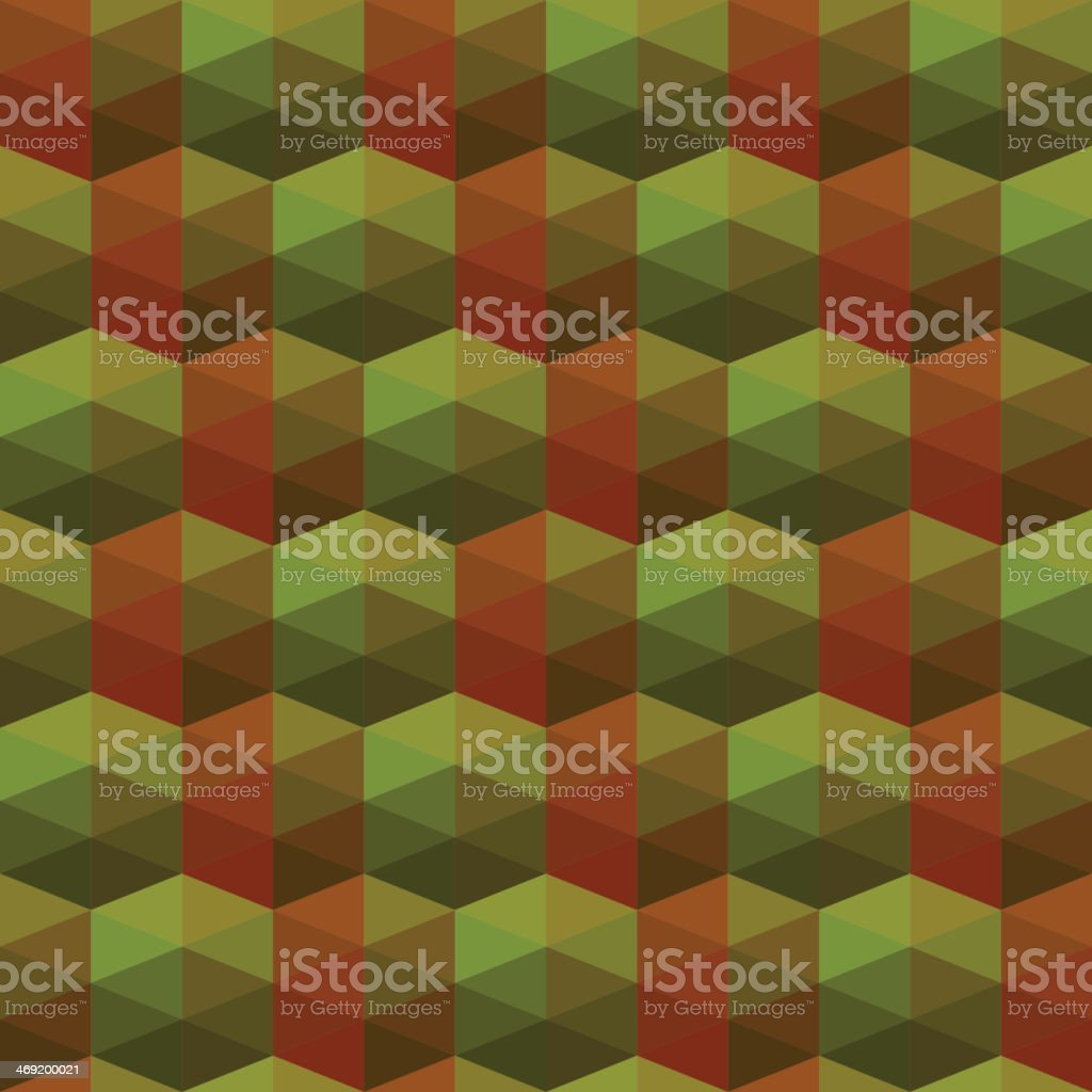 seamless texture of triangles. illusion hexagon royalty-free stock vector art