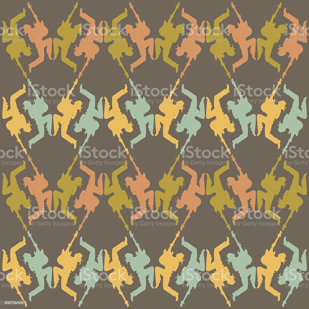 seamless texture rock star Silhouette royalty-free stock vector art