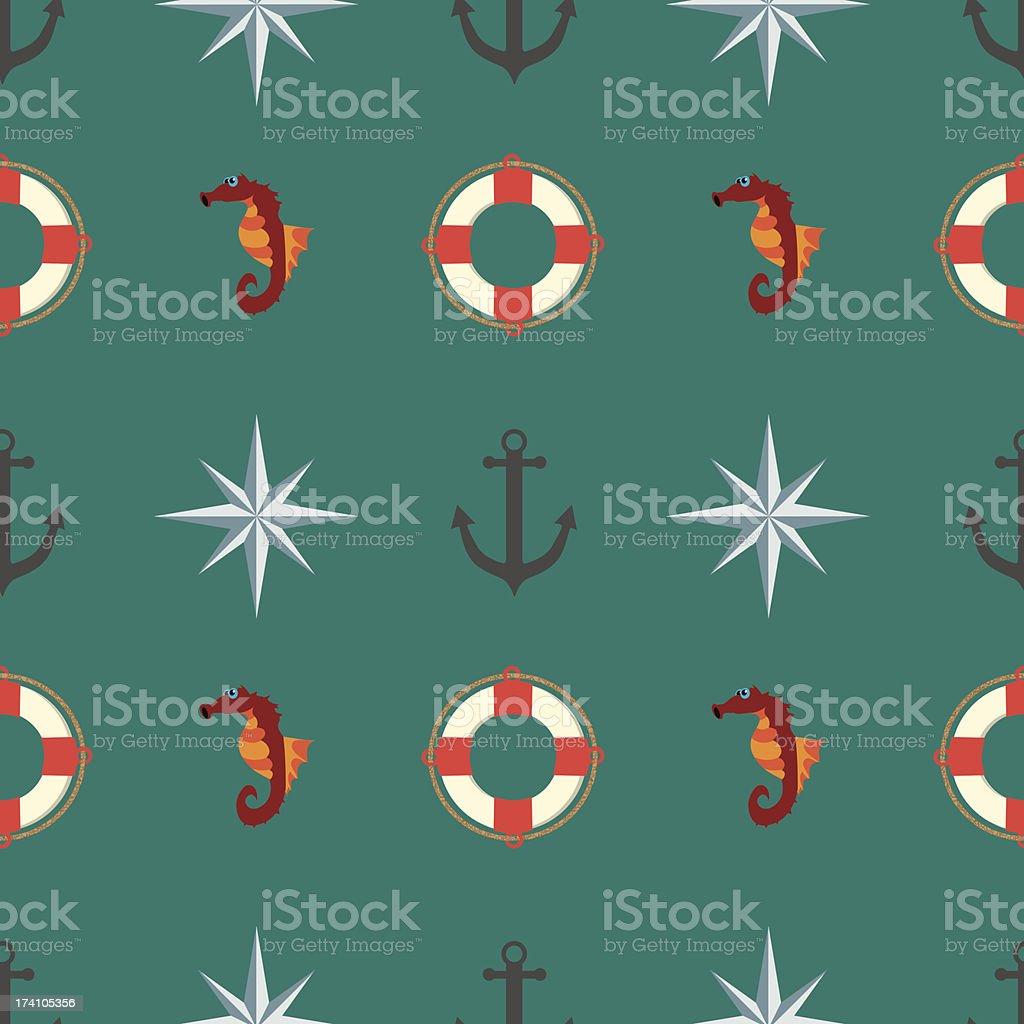 Seamless texture. The maritime theme. royalty-free stock vector art