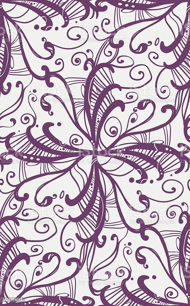 Seamless texture with a nice abstract floral element. vector art illustration