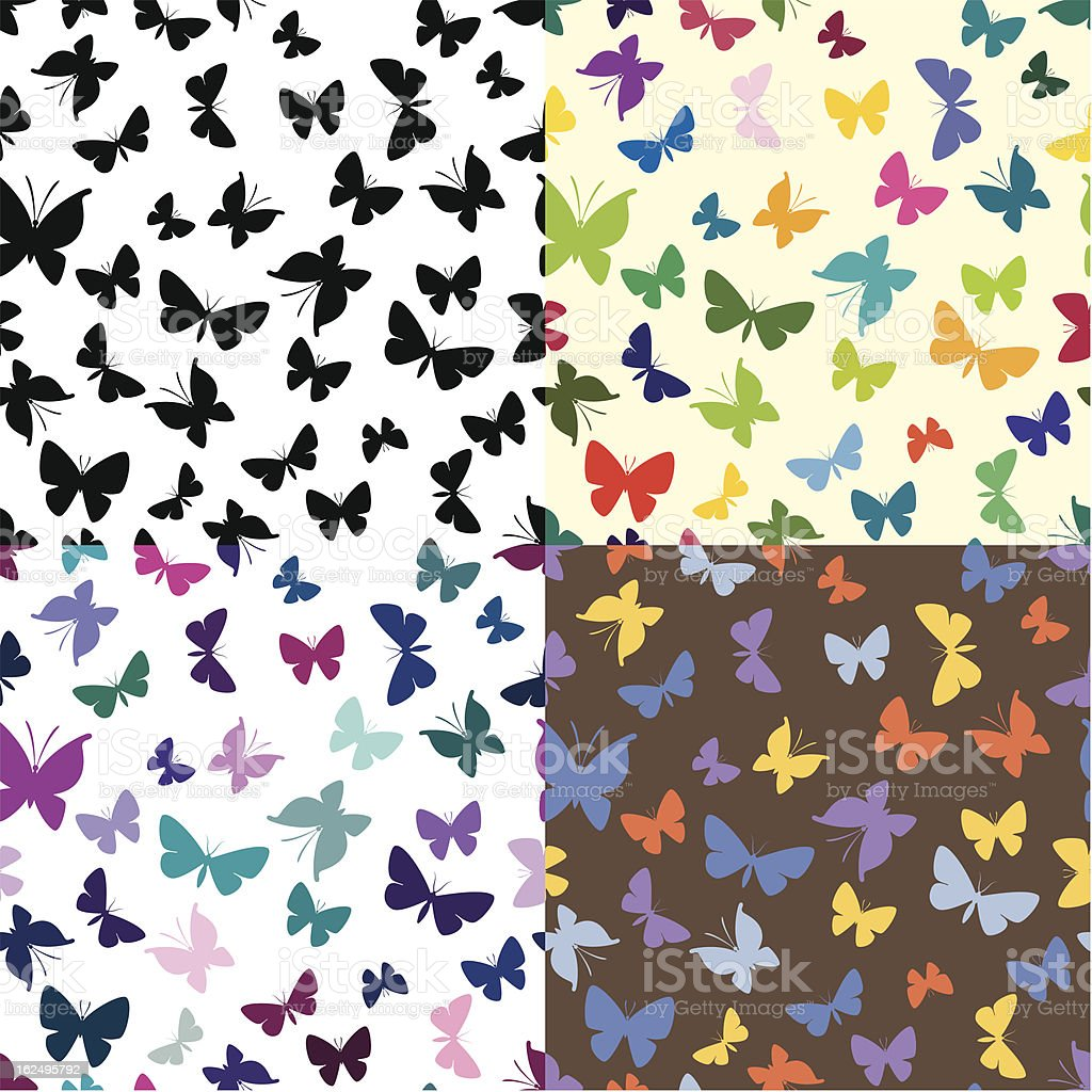 Seamless texture with butterflies royalty-free stock vector art