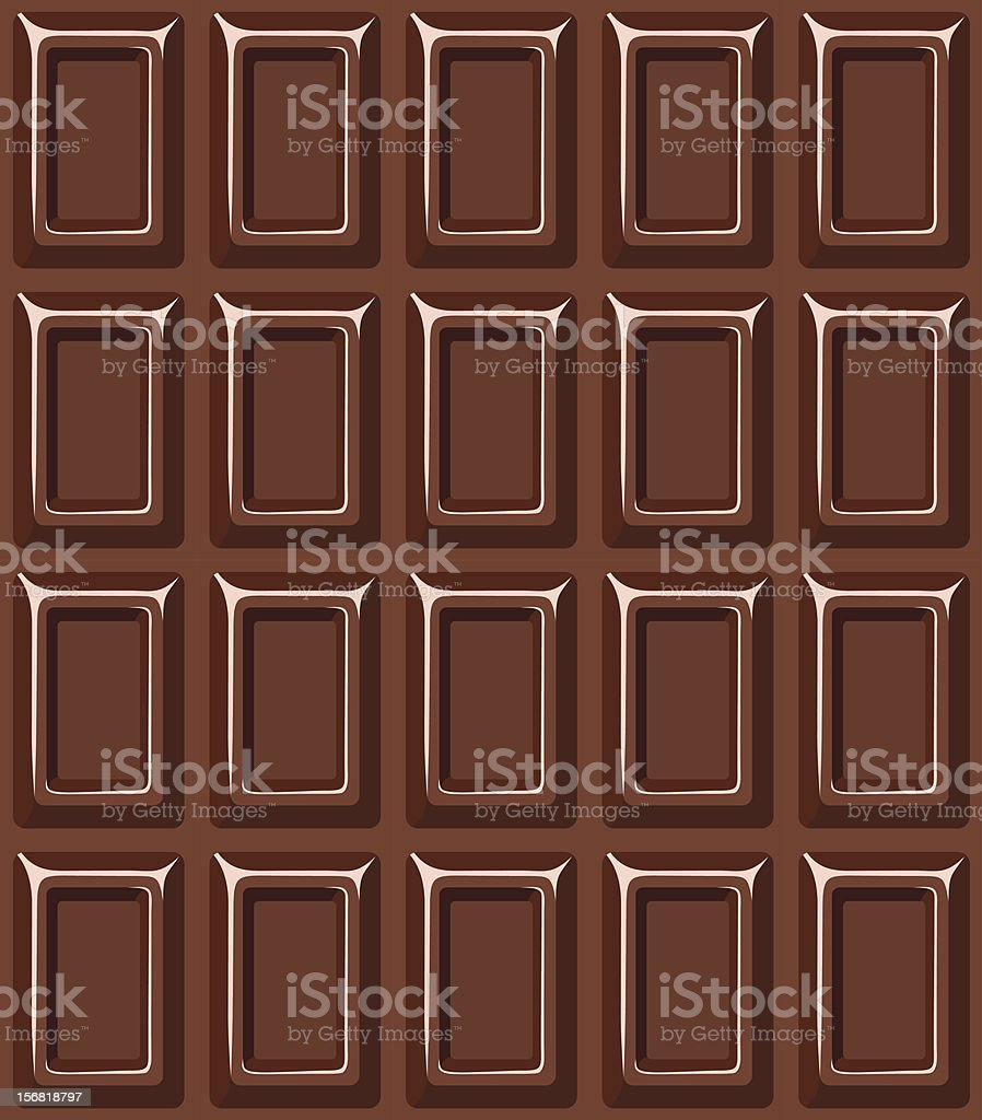 Seamless texture with chocolate bar. Vector. royalty-free stock vector art