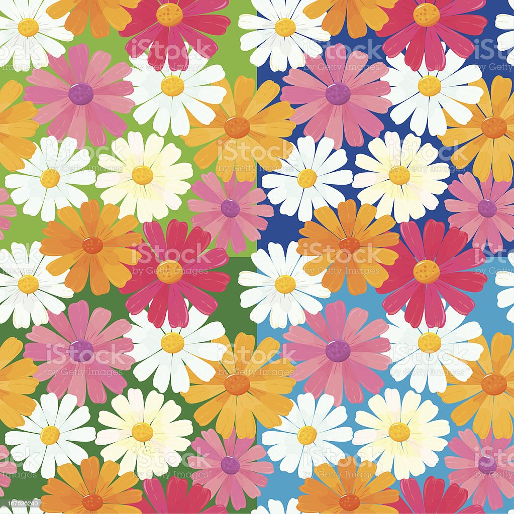 seamless textures with daisy flowers vector art illustration