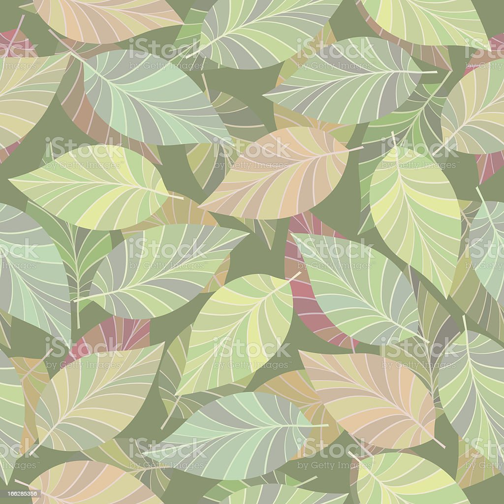 Seamless. The leaves and branches. royalty-free stock vector art