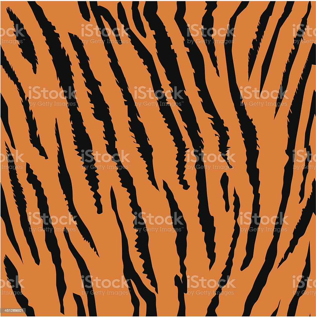 Seamless tiger fur pattern vector art illustration