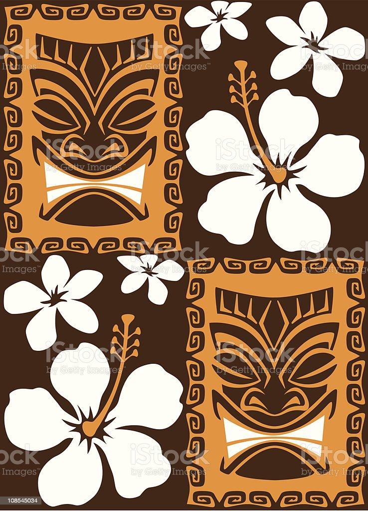 Seamless Tiki Tiles royalty-free stock vector art