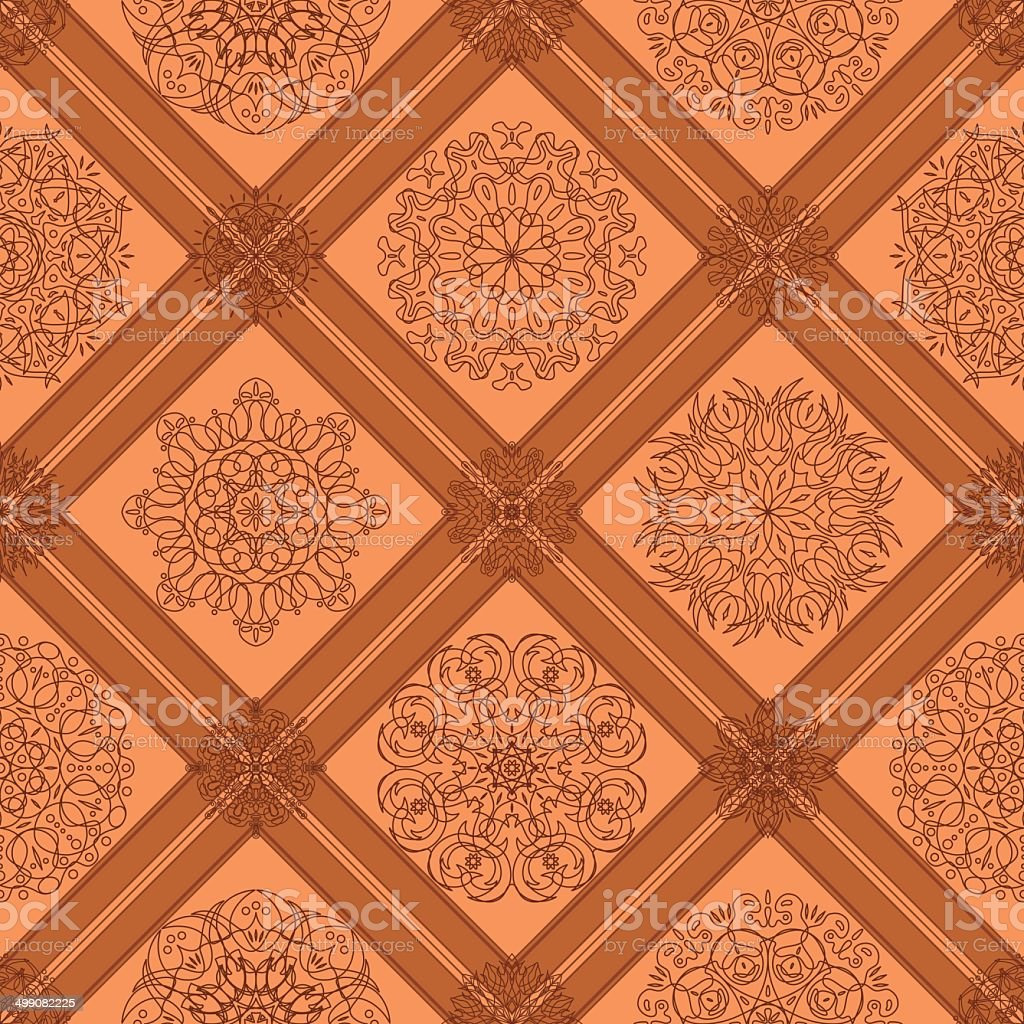 Seamless tile abstract pattern royalty-free stock vector art