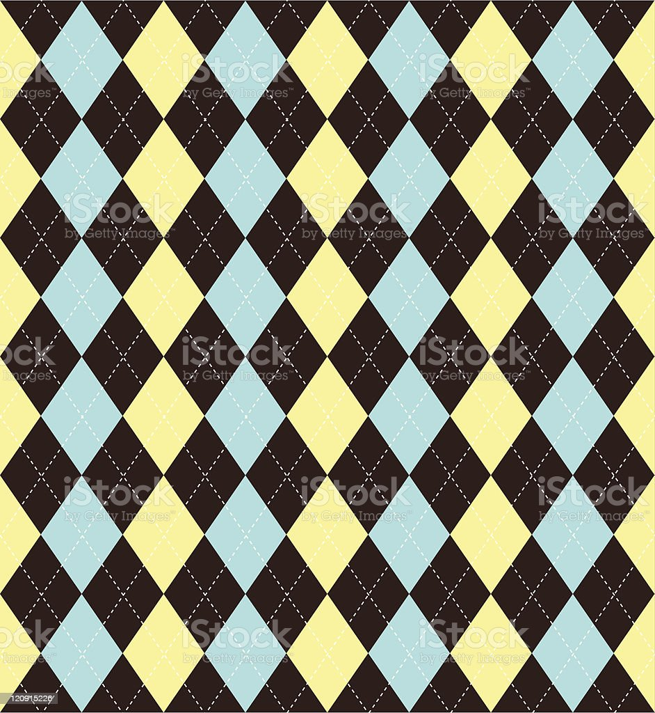 Seamless Tile Argyle Background royalty-free stock vector art